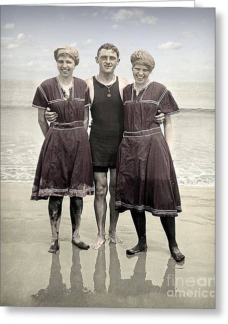 Beach Wear Fashion 1910 Greeting Card