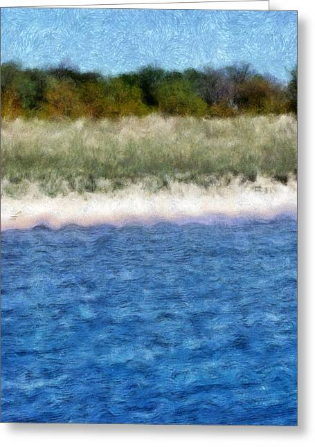 Beach With Short Dune Greeting Card by Michelle Calkins