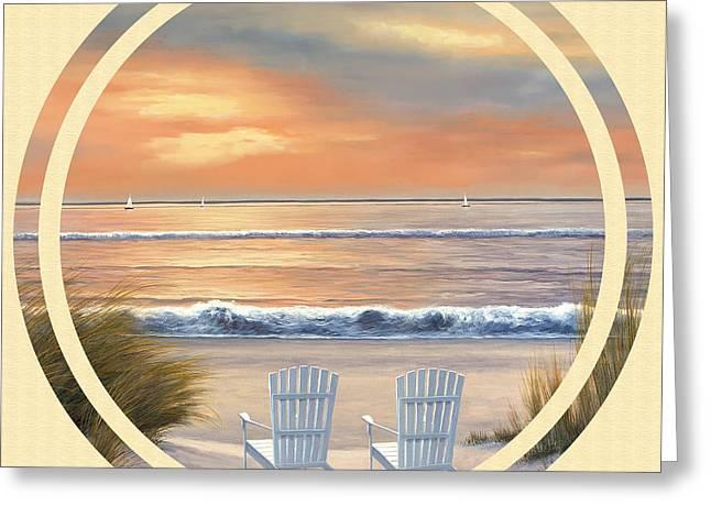Beach World Greeting Card by Diane Romanello