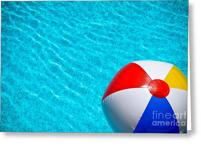 Beachball 1 Greeting Card by Amy Cicconi