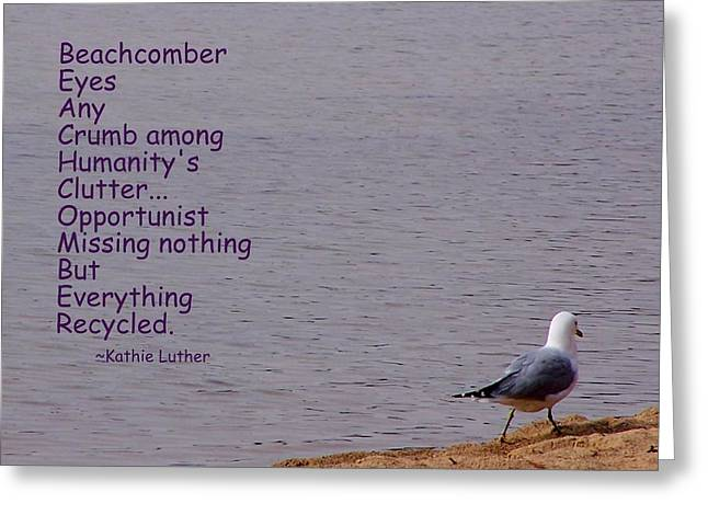 Beachcomber Greeting Card