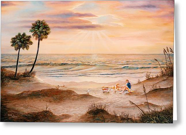 Beachcombers Greeting Card by Duane R Probus