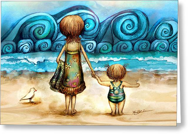 Beachcombers Greeting Card by Karin Taylor