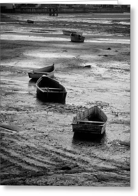 Beached Boats Greeting Card by Gary Slawsky