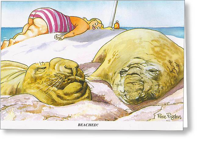 Beached Greeting Card by Rose Rigden