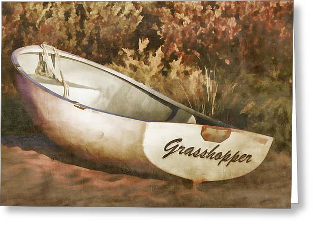 Beached Rowboat Greeting Card