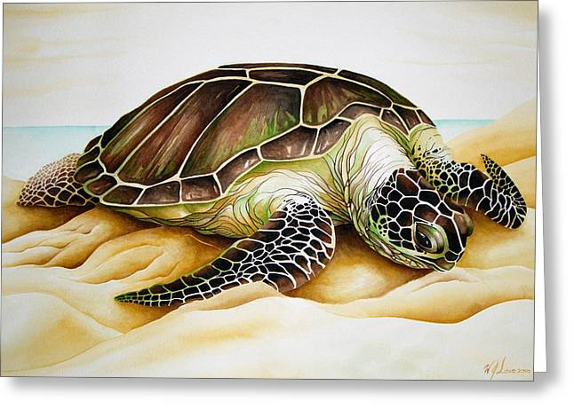 Beached Greeting Card by William Love