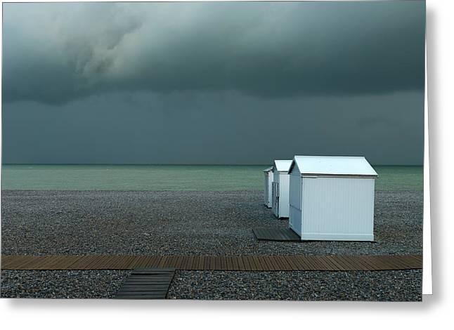 Beachhouses Greeting Card