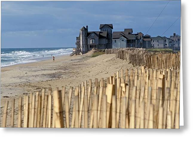 Beachside Homes Greeting Card by Jim West