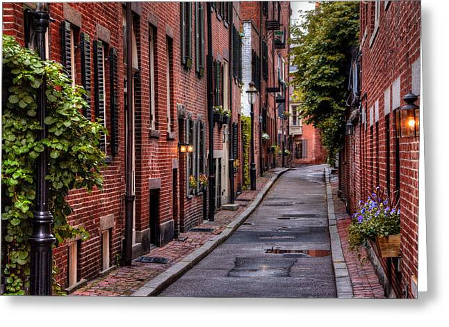 Beacon Hill Boston Greeting Card by Carol Japp