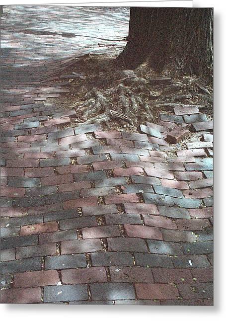 Beacon Hill Brick Greeting Card by Jill Tuinier