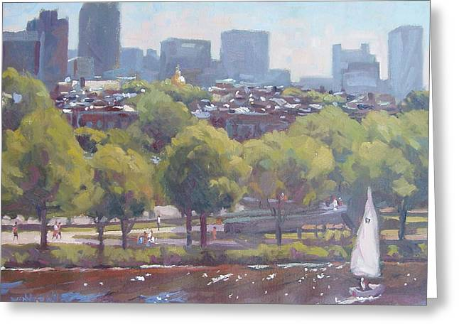 Beacon Hill Greeting Card by Dianne Panarelli Miller