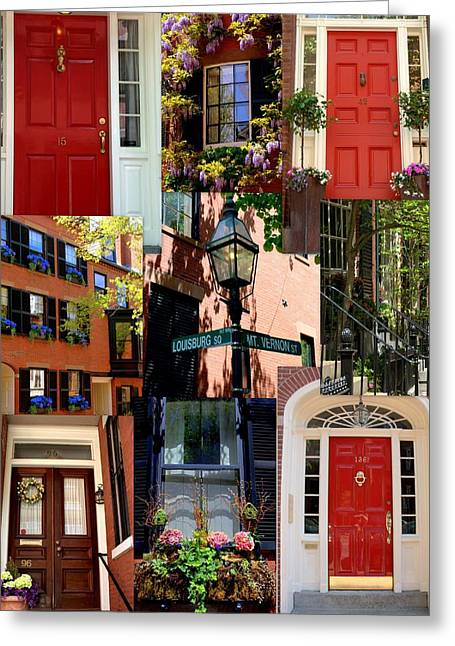 Beacon Hill  Windows Doors And More Greeting Card