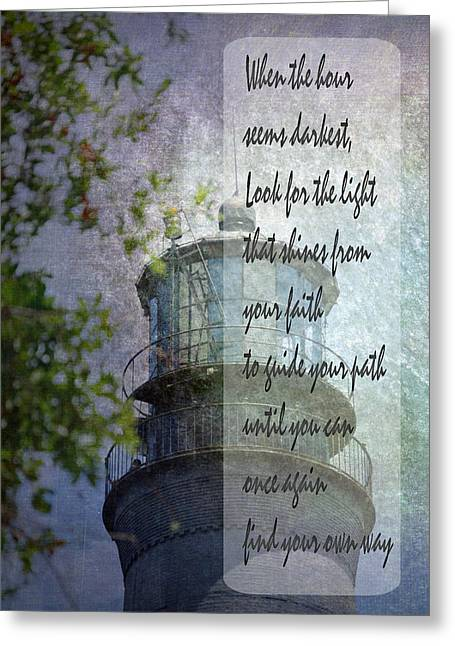 Beacon Of Hope Inspiration Greeting Card by Judy Hall-Folde