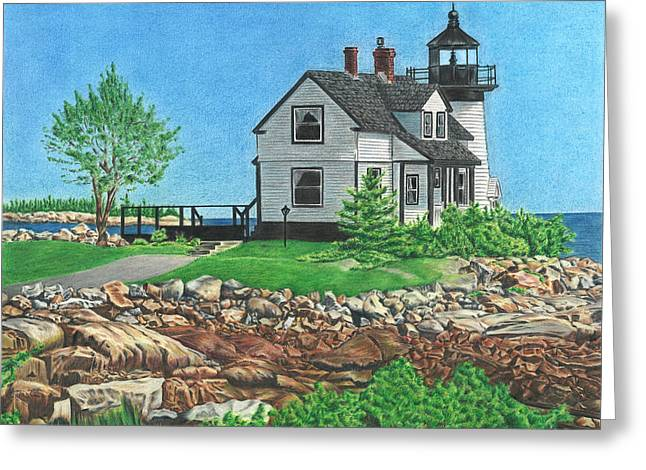 Greeting Card featuring the drawing Beacon Of Hope by Troy Levesque