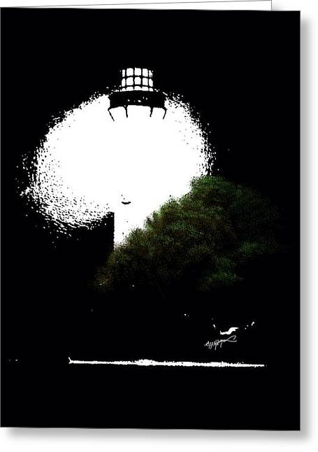Beacon Of Light Greeting Card by Anthony Fishburne