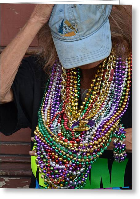 Bead Lady Of The Quarter Greeting Card by Nadalyn Larsen