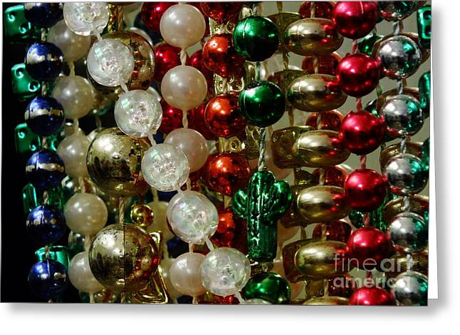 Beads Greeting Card by Chandra Nyleen