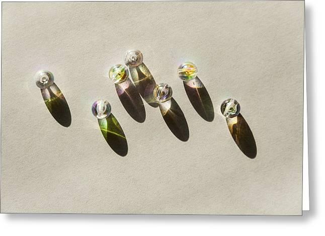 Beads Greeting Card by Svetlana Sewell