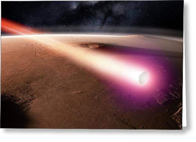 Beagle 2 Over Mars Greeting Card