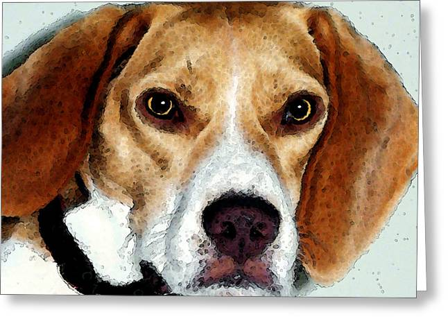 Beagle Art - Eagle Boy Greeting Card by Sharon Cummings