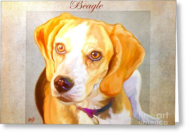 Beagle Art Greeting Card