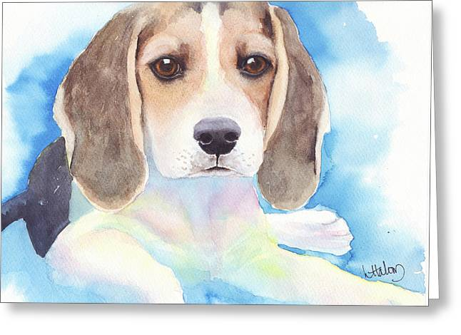 Beagle Baby Greeting Card