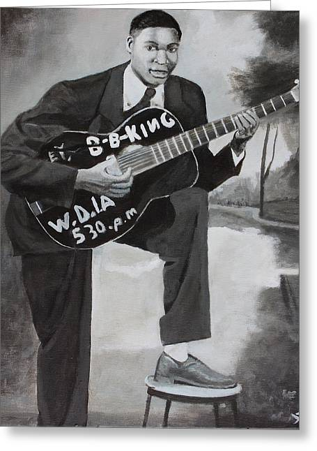 Beale Street Blues Boy Greeting Card by Patrick Kelly