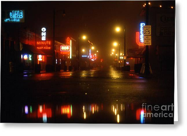 Beale Street Greeting Card by Douglas Stucky