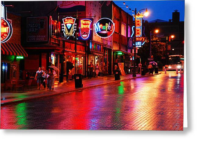 Beale Street Memphis Greeting Card