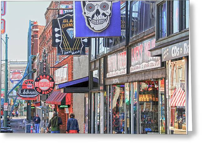 Beale Walk Greeting Card by Suzanne Barber
