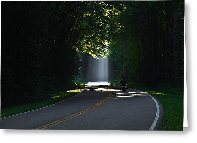 Beam Me Up The Great Smoky Mountains Greeting Card by Reid Callaway