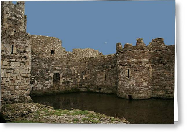 Greeting Card featuring the photograph Beamaris Castle by Christopher Rowlands