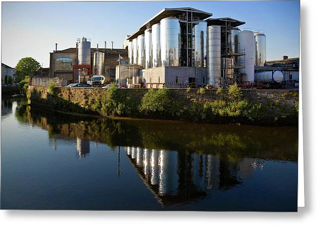 Beamish & Crawford Brewery, River Lee Greeting Card by Panoramic Images