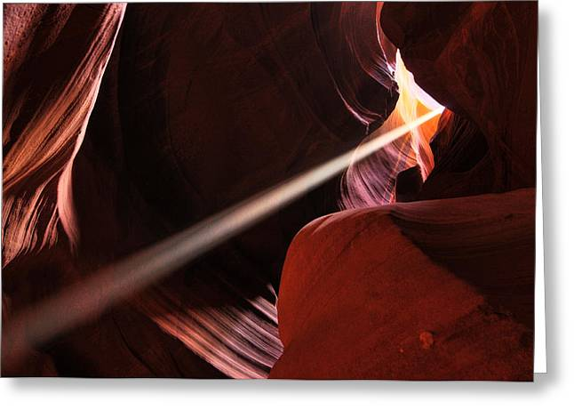 Beams Of Light Greeting Card by Dan Myers