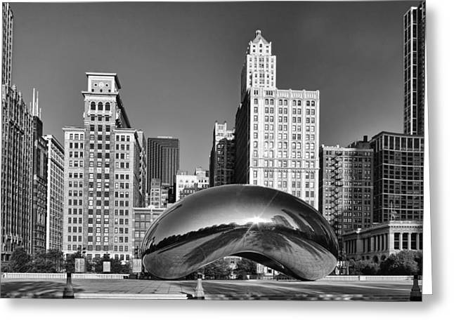 Bean Skyline Greeting Card by Mike Burgquist