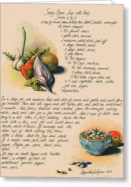 Bean Soup And Vegetables Greeting Card