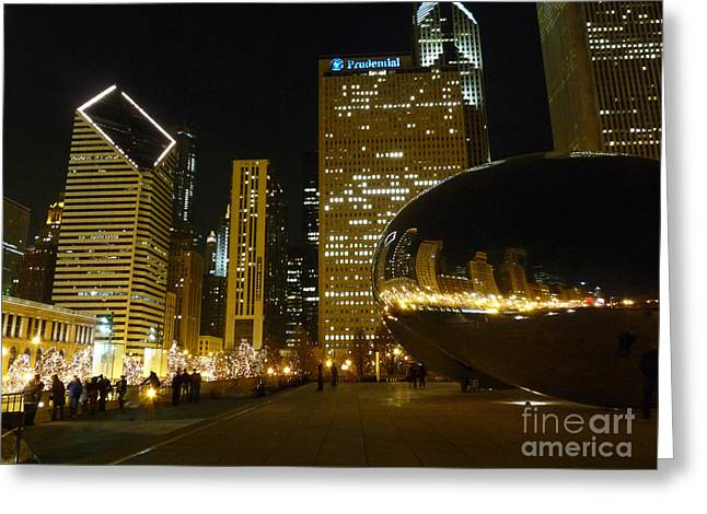 Beanie Night View Greeting Card by David Bearden