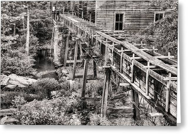 Bean's Mill In Black And White Greeting Card