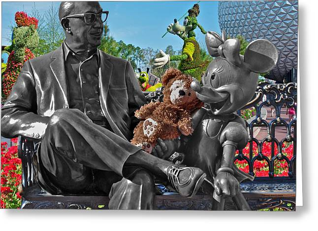 Bear And His Mentors Walt Disney World 03 Greeting Card by Thomas Woolworth