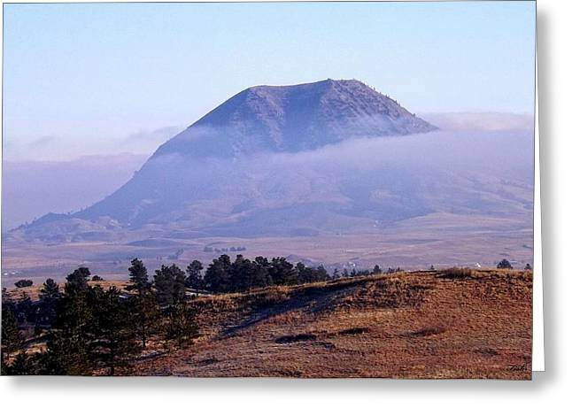 Bear Butte Fog Greeting Card
