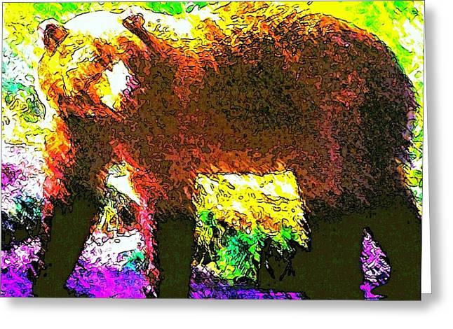 Bear Color Greeting Card by Carol Bono