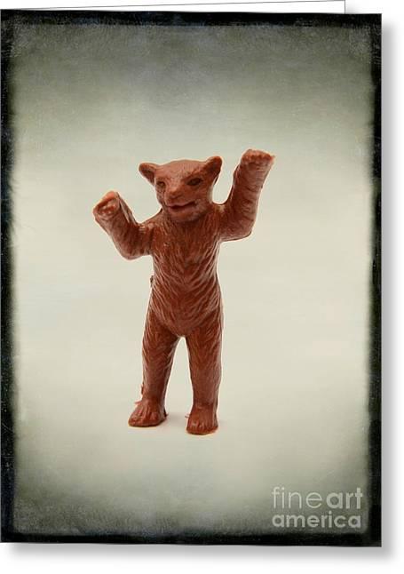 Bear Figurine Greeting Card by Bernard Jaubert