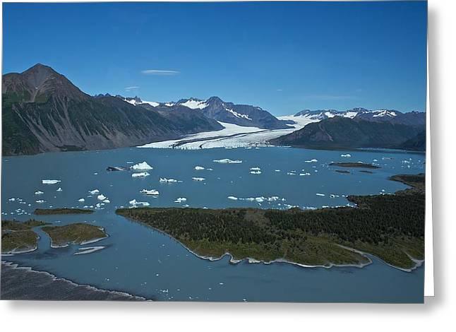 Greeting Card featuring the photograph Bear Glacier Seward Alaska by Michael Rogers