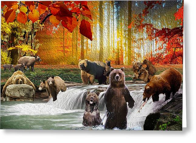 Bear Heaven Greeting Card