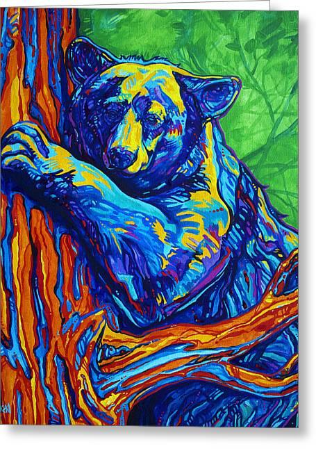 Bear Hug Greeting Card by Derrick Higgins