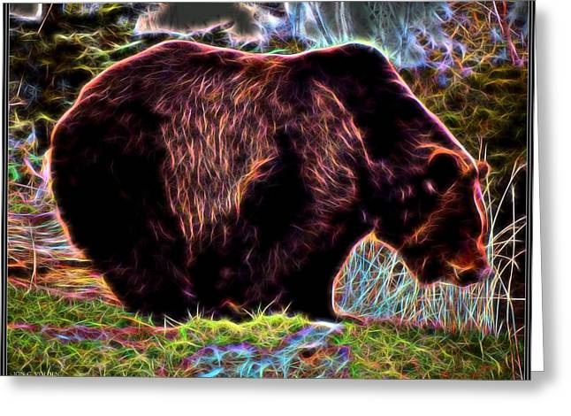 Colorful Grizzly Greeting Card