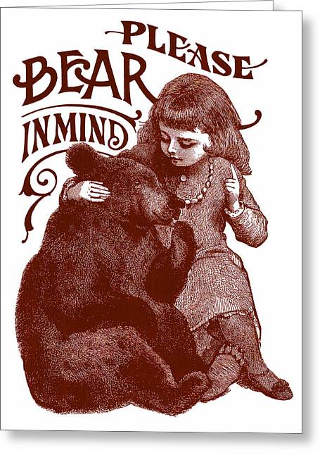 Bear In Mind Greeting Card
