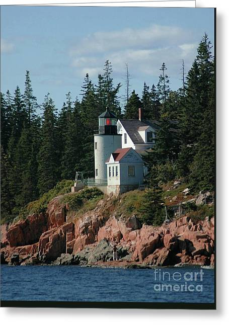 Bear Island Lighthouse Greeting Card by Kathleen Struckle