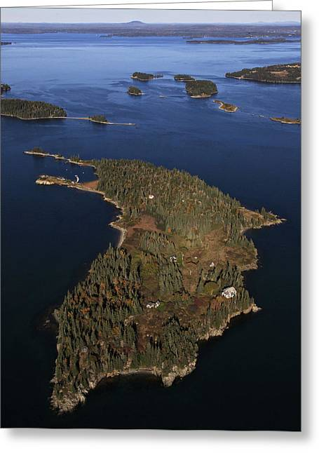 Bear Island, Penobscot Bay Greeting Card by Dave Cleaveland